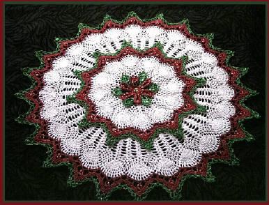 Free Crochet Pattern Christmas Doily : Delsies Crochet Christmas Beaded patterns